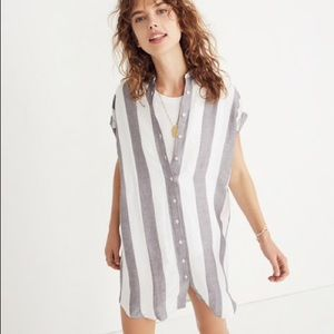 Madewell Maywood Stripe Shirt Dress